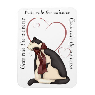 Kitty Cat with Hearts Picture Magnet