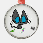Kitty Cat With His Toys Christmas Tree Ornament