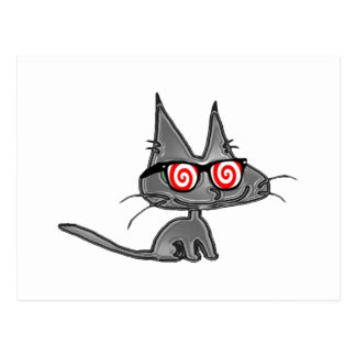 Kitty Cat With Hypno Glasses Post Cards