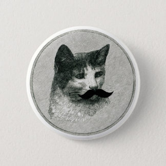 Kitty Cat with Mustache Pin