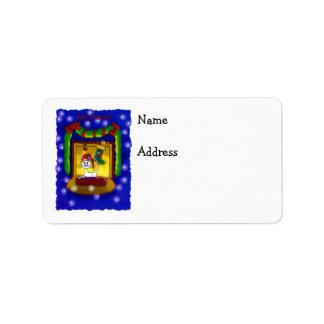 Kitty Catmas Address Label