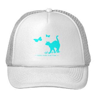Kitty Cats are Free Aqua Trucker Hat