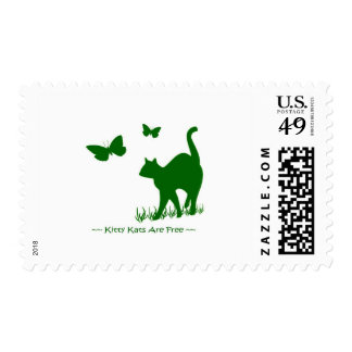Kitty Cats are Free Green Postage