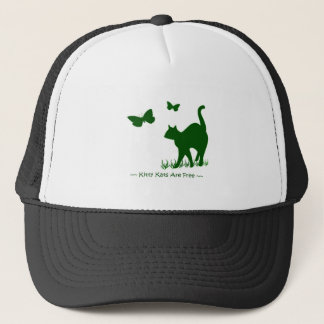 Kitty Cats are Free Green Trucker Hat