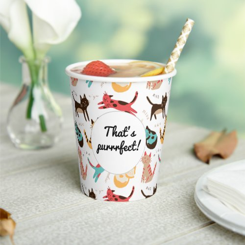 Kitty cats around the world paper cups