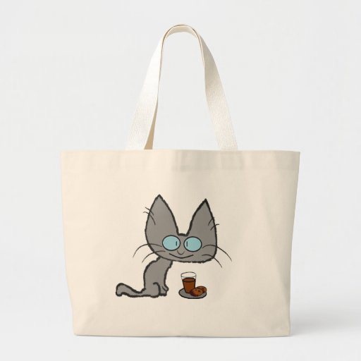 Kitty Cats chocolate chip cookies & chocolate milk Tote Bag