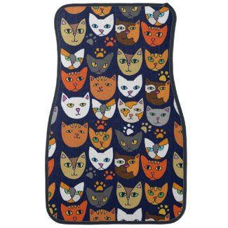 Kitty Cats Everyday Caturday Car Mat