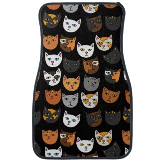 Kitty Cats everywhere pattern Car Mat