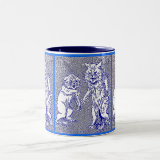 Kitty Cats in Blue by Louis Wain Coffee Mugs
