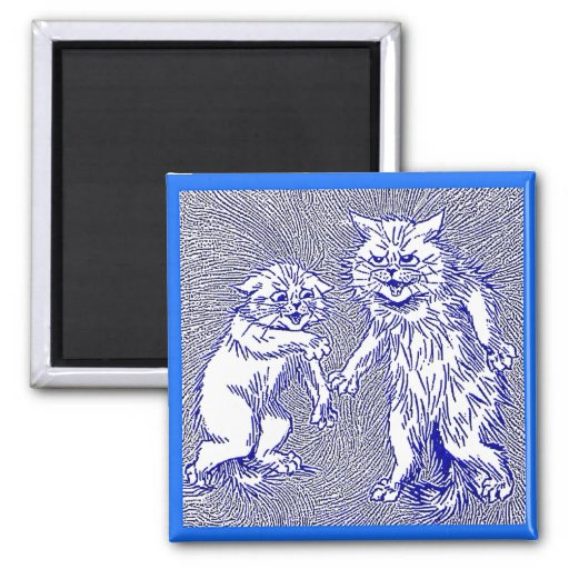 Kitty Cats in Blue by Louis Wain Magnet