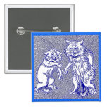 Kitty Cats in Blue by Louis Wain Pin