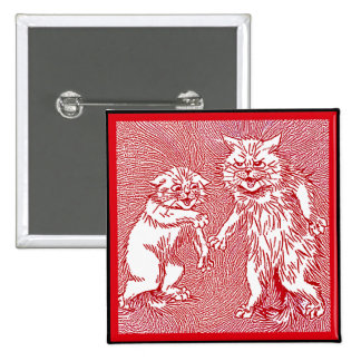Kitty Cats in Red  by Louis Wain Pin