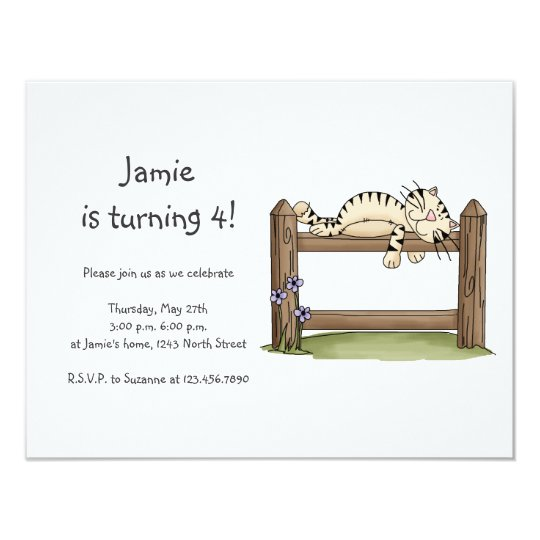 Kitty Cats · Kitty on Fence Card