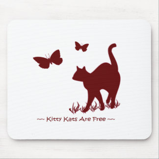 Kitty Cats R Free - Red / Maroon Mouse Pad