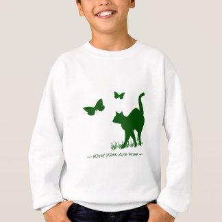 Kitty Cats R Free Sweat Shirt green