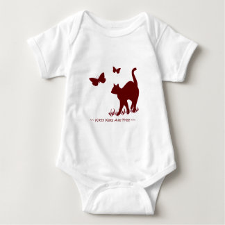Kitty Cats - Red / Maroon Baby Tops Onsies Infant Creeper