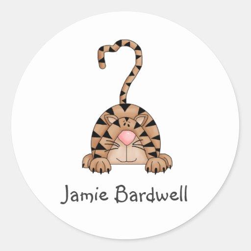 Kitty Cats · Tabby Cat Classic Round Sticker