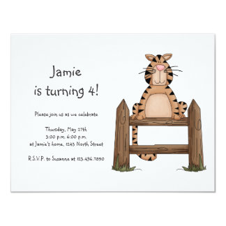 Kitty Cats · Tabby Cat on Fence Card