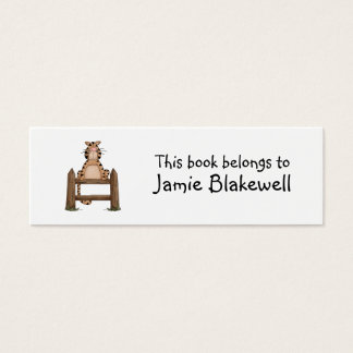 Kitty Cats · Tabby Cat on Fence Mini Business Card