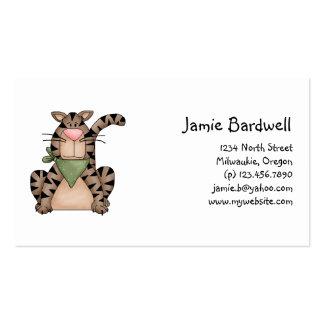 Kitty Cats · Tabby Cat with Green Bandana Business Card