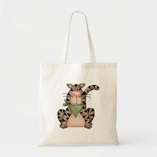 Kitty Cats · Tabby Cat with Green Bandana Tote Bag