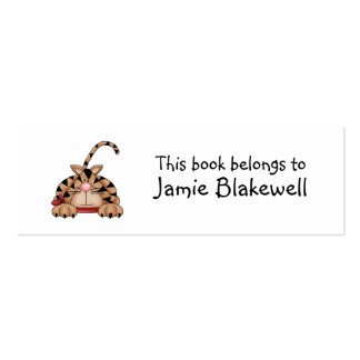 Kitty Cats · Tabby Cat with Red Bandana Mini Business Card