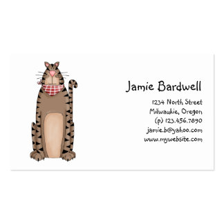 Kitty Cats · Tabby Cat with Red & White Bandana Business Card