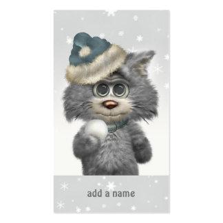 Kitty Cats Winter Wonderland Personalized Business Card