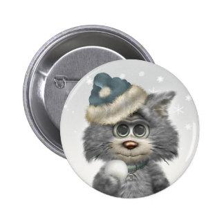 Kitty Cats Winter Wonderland Pinback Button