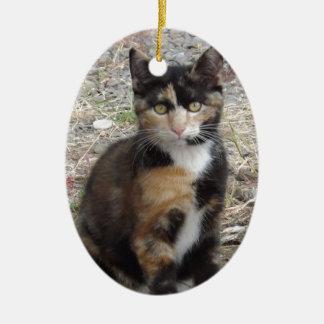 Kitty Ceramic Ornament