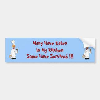 Kitty Chef Car Bumper Sticker