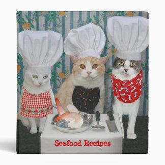 Kitty Chefs Seafood Recipes 3 Ring Binders
