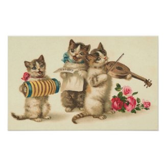 Kitty Chorus Print print