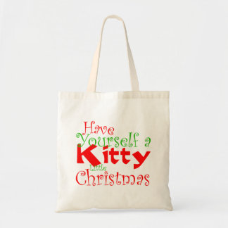 Kitty Christmas Holiday Tote Bag