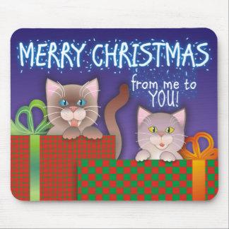 Kitty Christmas Mouse Pad