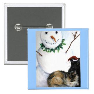 Kitty Christmas pin/brooch