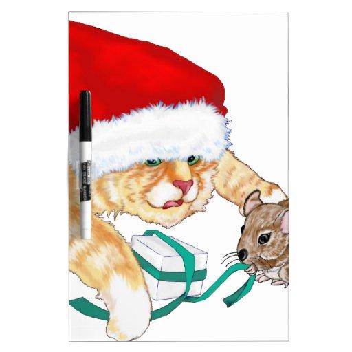 Kitty Claus Dry-Erase Whiteboards