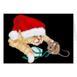 Kitty Claus Greeting Card