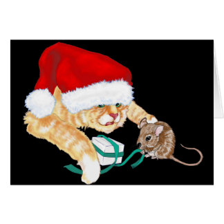 Kitty Claus Greeting Cards