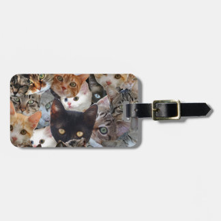 Kitty Collage Luggage Tag