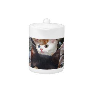 Kitty Collage Teapot