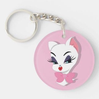 Kitty Collection White kitty keychain