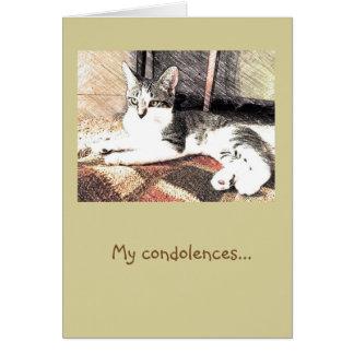Kitty Condolences Card