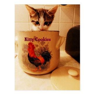 Kitty Cookies postcard