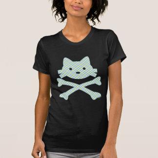 Kitty Crossbones Plaid Tshirts