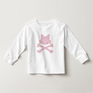 Kitty Crossbones Plaid Tee Shirts