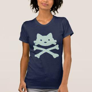 Kitty Crossbones Plaid Tshirt