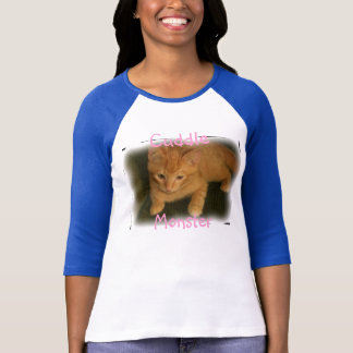 "Kitty ""Cuddle Monster"" Womens Raglan T-Shirt"