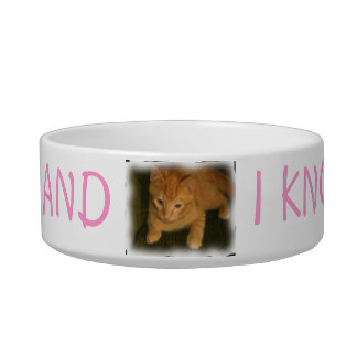 """Kitty """"CUTE AND I KNOW IT"""" Pet Bowl"""