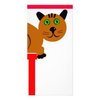 Kitty Designed Book Mark Photo Card Template
